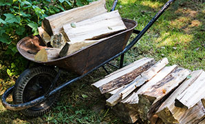 This is the process where larger diameter pieces are split into multiple pieces, such that the firewood burns easier