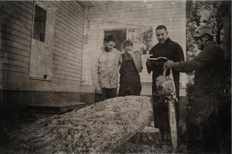 Funeral for the fallen oak tree