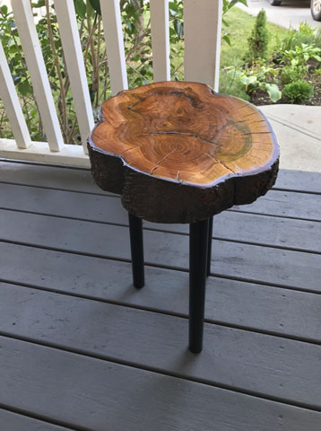 Table from a mayday tree